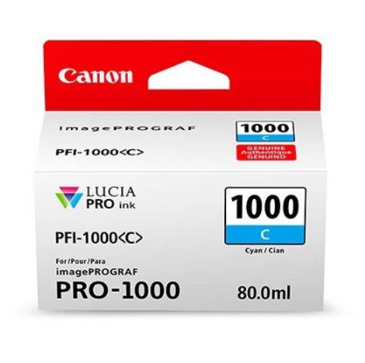 Canon Tinte PFI-1000C Cyan, 80 ml