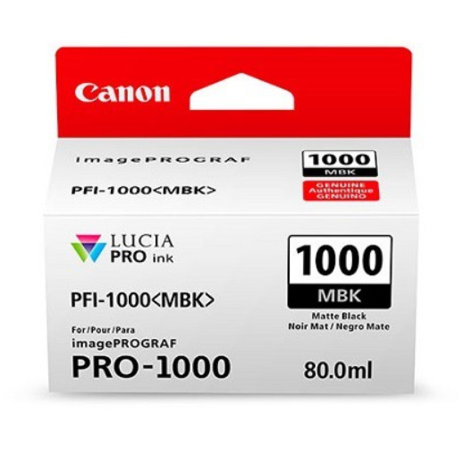 Canon Tinte PFI-1000MBK Mattschwarz, 80 ml