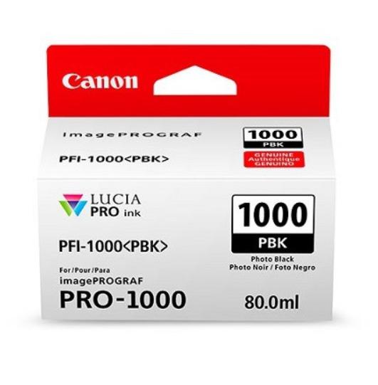 Canon Tinte PFI-1000PBK Photo Schwarz, 80 ml