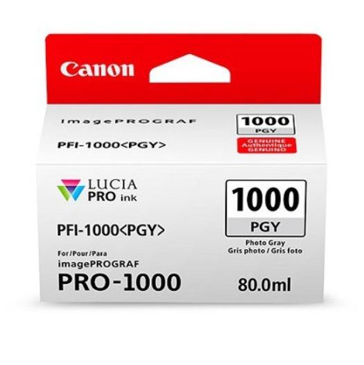 Canon Tinte PFI-1000PGY Photo Grau, 80 ml