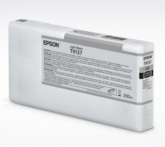Epson Tinte T9137 Light Black, 200ml