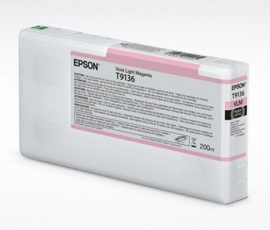 Epson Tinte T9136 Vivid Light Magenta, 200ml